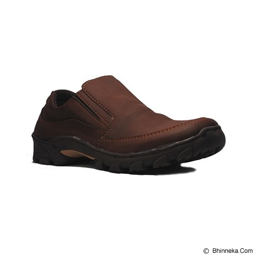 D-ISLAND Shoes Low Boots Slip On Common Size 43 [Island Shoes 09] - Brown - Loafer dan Slip On Pria