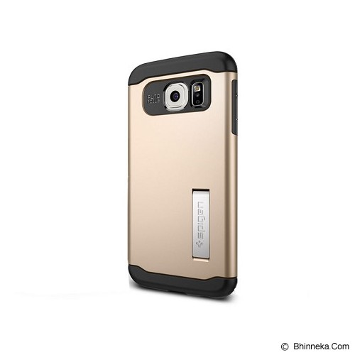 SPIGEN Samsung Galaxy S6 Case Slim Armor [SGP11329] - Champagne Gold - Casing Handphone / Case