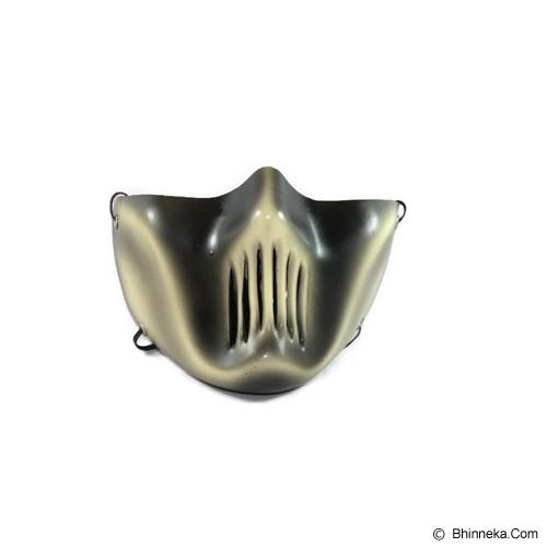 ROTAMART Masker Motor 3 Dimensi - Skul Flat Silver - Masker Motor