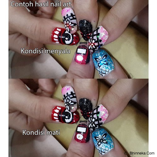 BKENZ Nailart LED [NAR0004] - Red - Sticker Kuku