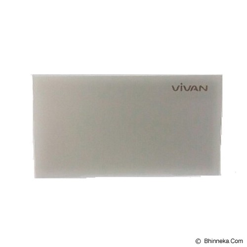 VIVAN Powerbank 10.000mAh [B10] - Silver - Portable Charger / Power Bank