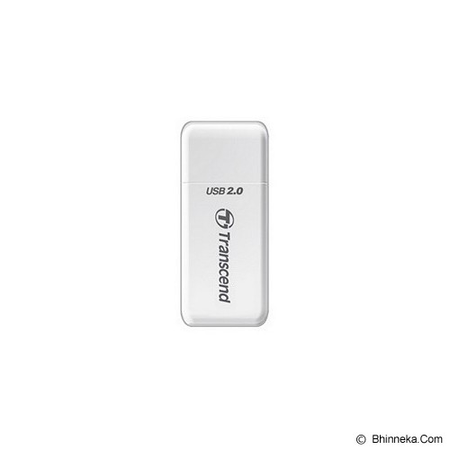 TRANSCEND USB 2.0 Card Reader [TS-RDP5W] - White - Memory Card Reader External