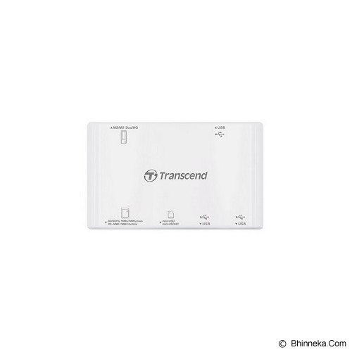 TRANSCEND USB 2.0 Card Reader/Hub [TS-RDP7W] - White - Memory Card Reader External
