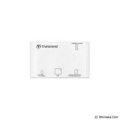 TRANSCEND USB 2.0 Card Reader [TS-RDP8W] - White - Memory Card Reader External