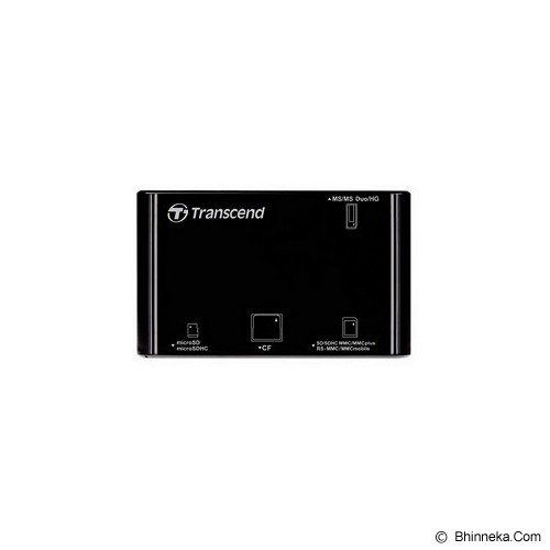 TRANSCEND USB 2.0 Card Reader [TS-RDP8K] - Black - Memory Card Reader External