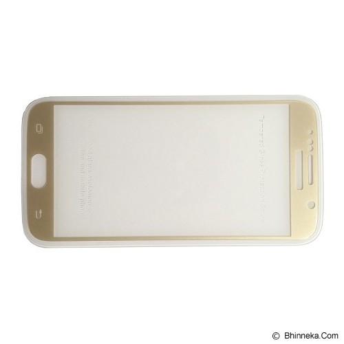 KINGKONG Tempered Glass Screen Protector for Samsung Galaxy S6 - Gold Border - Screen Protector Handphone