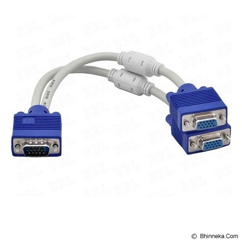ANYLINX VGA Blue Male to Spilliter Dual VGA Blue Female - Putih - Cable / Connector Vga