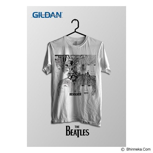 TOMOINC The Beatles Revolver Kaos Band Original Gildan Size S [BTL007] - Kaos Pria