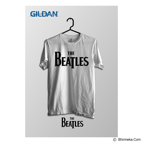 TOMOINC The Beatles Official Logo Kaos Band Original Gildan Size S [BTL025] - White - Kaos Pria