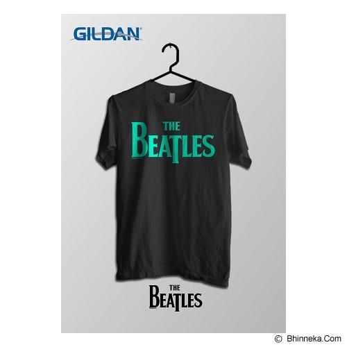 TOMOINC The Beatles Official Logo Kaos Band Original Gildan Size S [BTL028] -  Black Carolina - Kaos Pria