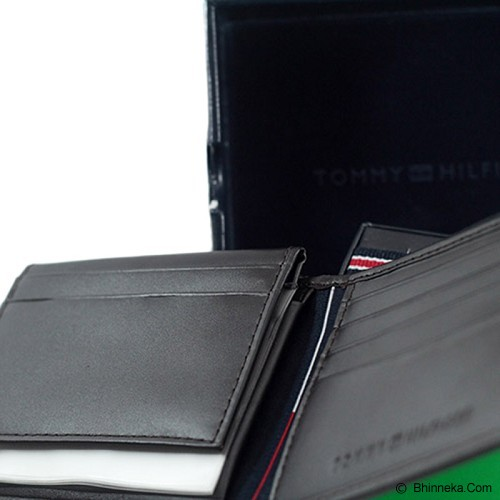 TOMMY HILFIGER Mens Cambridge Passcase Wallet - Brown - Dompet Pria