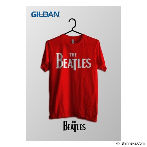 TOMOINC The Beatles Official Logo Kaos Band Original Gildan Size M [BTL027] - Red