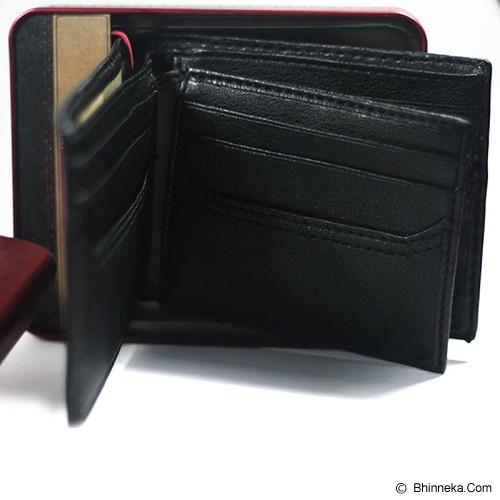 LEVI'S Extra Capacity Slimfold Wallet - Black - Dompet Pria