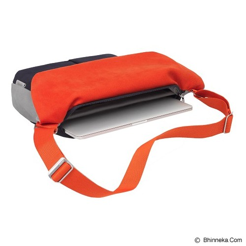 COTEetCIEL Tas Laptop Messenger 15 Inch [C28027] - Orange/Grey/Atlantic Blue Metal - Notebook Sleeve