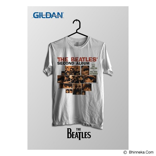 TOMOINC The Beatles Second Album Kaos Band Original Gildan Size XL [BTL004] - Kaos Pria