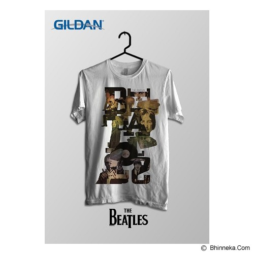 TOMOINC The Beatles Typo Kaos Band Original Gildan Size XL [BTL016] - Kaos Pria