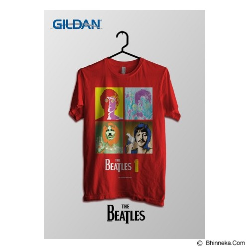 TOMOINC The Beatles One Poster Kaos Band Original Gildan Size XL [BTL021] - Kaos Pria