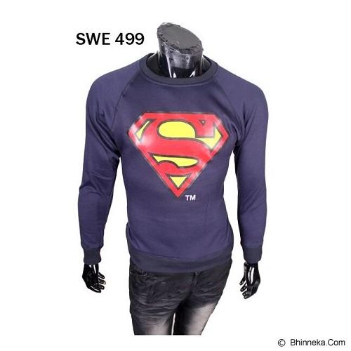 GUDANG FASHION Sweater Superhero Superman [SWE 499] - Biru Dongker - Sweater / Cardigan Pria