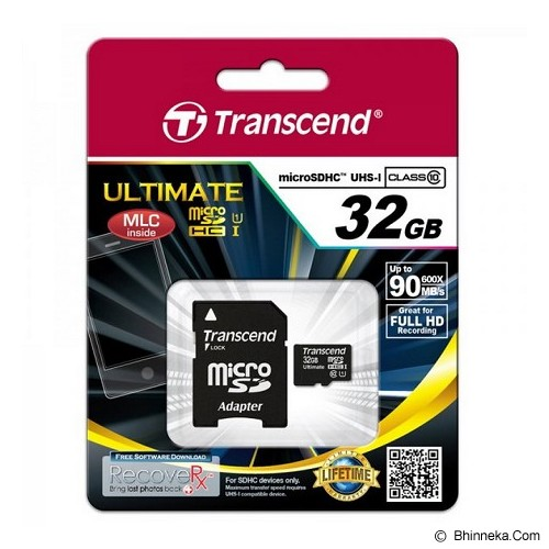 TRANSCEND MicroSDHC 32GB Ultimate 600x [TS32GUSDHC10U1] - Micro Secure Digital / Micro Sd Card