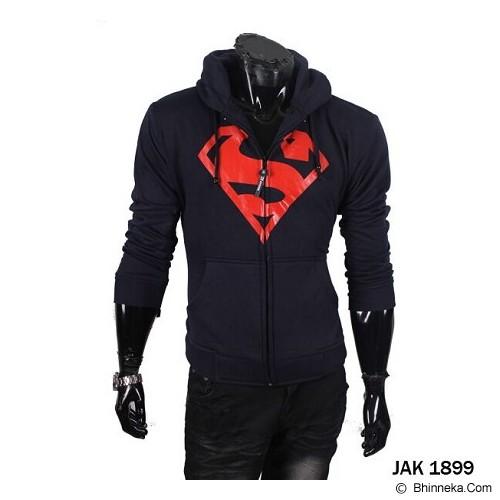 GUDANG FASHION Jaket Superhero Superman Bahan Fleece Masa Kini [JAK 1899] - Hitam - Jaket Casual Pria