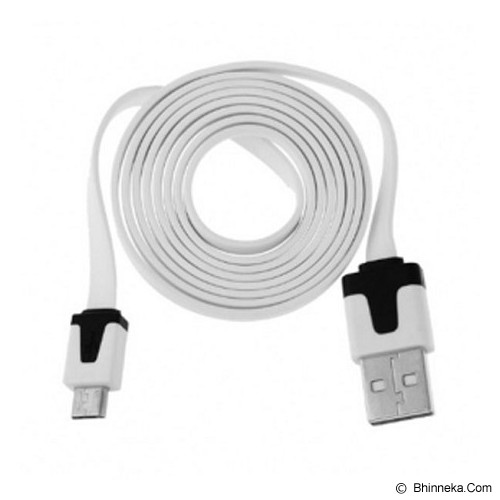 ANYLINX Cable Micro USB C39 1M Flat - Putih - Cable / Connector Usb