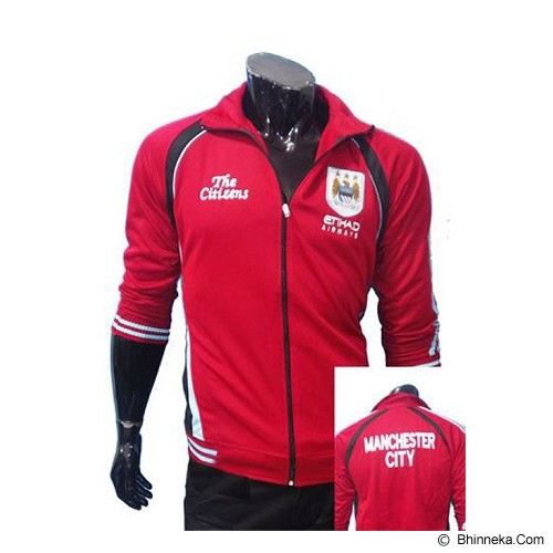 GUDANG FASHION New Trendy Jaket Bola Manchester City  [JBL 500] - Red - Jaket Casual Pria