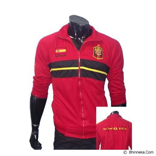 GUDANG FASHION Jaket Bola Spain [JBL 528] - Red - Jaket Casual Pria