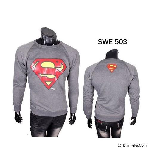 GUDANG FASHION Sweater Superman [SWE 503] - Abu Tua - Sweater / Cardigan Pria
