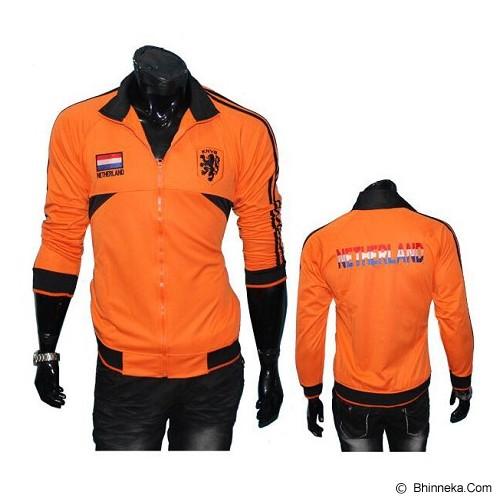 GUDANG FASHION Jaket Bola Club Team Netherland [JBL 621]- Orange - Jaket Casual Pria