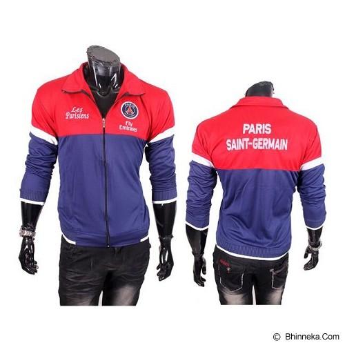 GUDANG FASHION Jaket Bola Paris Saint Germain [JBL 635] - Red Navy Blue - Jaket Casual Pria