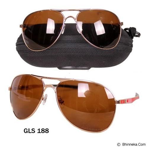 GUDANG FASHION Koleksi Aksesoris Modis Kacamata Pria dengan Style Terbaru [GLS 188] - Coklat Tua - Kacamata Hitam Pria