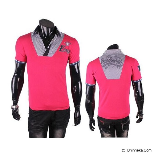 GUDANG FASHION Kaos Korean Styles [ARM 122] - Pink - Polo Pria
