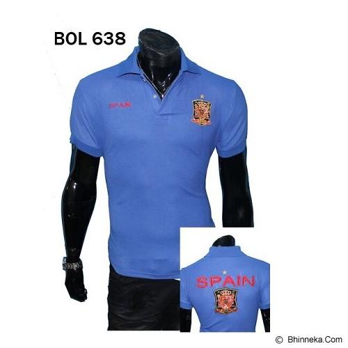 GUDANG FASHION Kaos Kerah Bola Spain Motif Keren dan Elegant [BOL 638] - Biru - Polo Pria