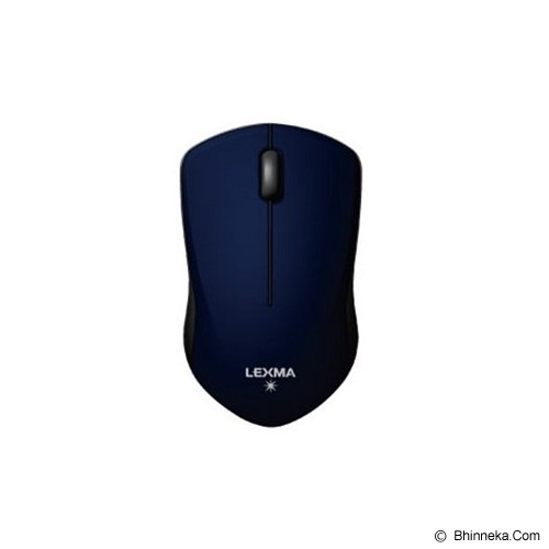 LEXMA Wireless Blue Trace Mouse [M726R] - Blue - Mouse Basic