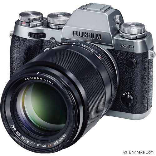 FUJIFILM XF 90mm f/2 R LM WR - Black - Camera Mirrorless Lens