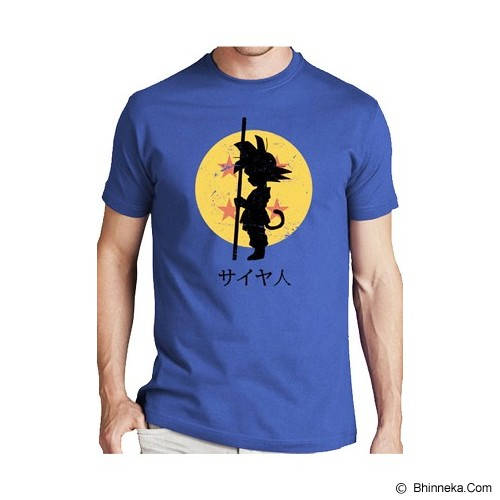 JERSICLOTHING T-Shirt Dragon Ball 02 Size S - Blue - Kaos Pria