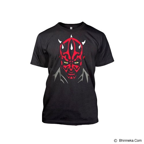 JERSICLOTHING T-Shirt Star Wars Darth Maul Size XXL - Black - Kaos Pria