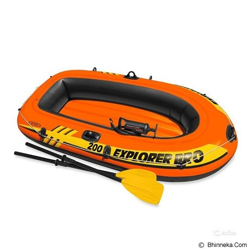 INTEX Explorer Pro 200 Boat Set [58357] - Red - Aksesoris Renang
