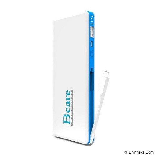 BCARE Powerbank 11000mAh - White Blue - Portable Charger / Power Bank