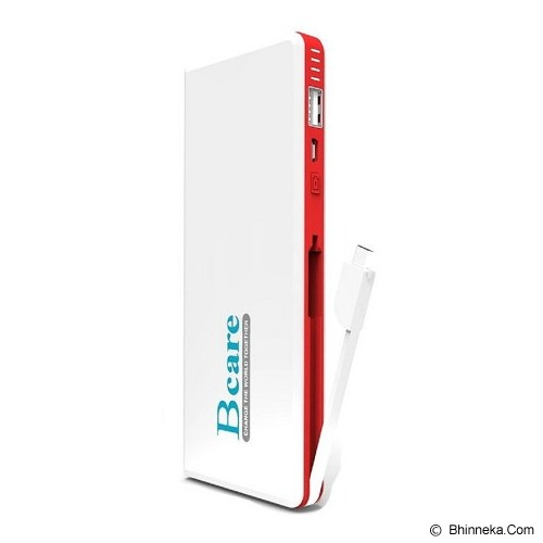 BCARE Powerbank 11000mAh - White Red - Portable Charger / Power Bank