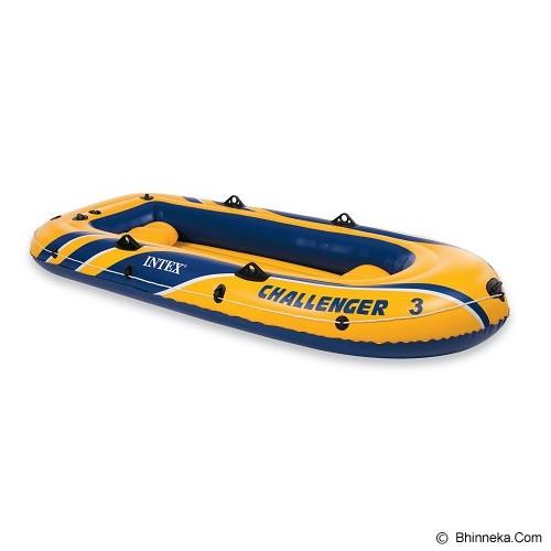 INTEX Challenger 3 Boat [68369] - Yellow - Aksesoris Renang