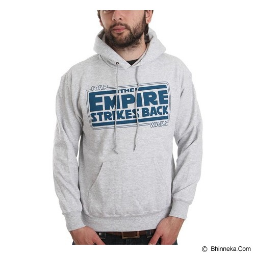 JERSICLOTHING Unisex Hoodie Empire Strikes Back  Velvet/Flock Print Size M - Grey - Sweater / Cardigan Pria