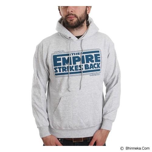 JERSICLOTHING Unisex Hoodie Empire Strikes Back  Velvet/Flock Print Size L - Grey - Sweater / Cardigan Pria