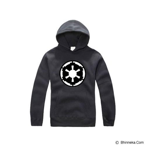 JERSICLOTHING Unisex Hoodie Star Wars Empire  Velvet/Flock Print Size L - Black - Sweater / Cardigan Pria