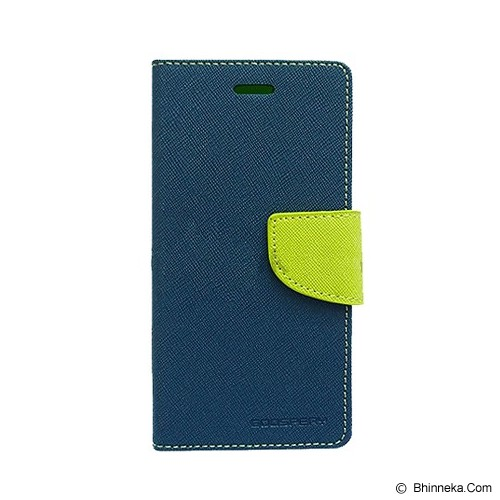 MERCURY GOOSPERY Samsung Galaxy Mega 6.3 Case - Navy/Lime - Casing Handphone / Case