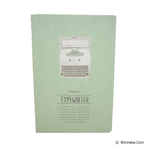DAOLEN Writing Book Typewriter [JB172] - Green (v) - Buku Catatan / Journal