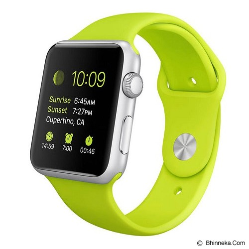 APPLE Watch 42mm White Alumunium Case with Green Sport Band - Smart Watches