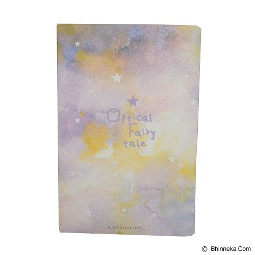 OUR STORY BEGINS Notebook Optical Fairytale [62004300] - Purple (V) - Buku Catatan / Journal