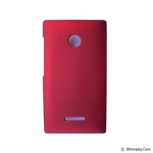 S-CH Lumia 435 Rubber Case - Red - Casing Handphone / Case