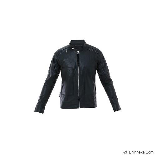 GOOG ON Jaket Kulit Korean Style Size XL [K-26] - Black - Jaket Casual Pria